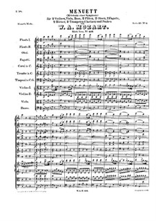 Minuet for Orchestra in C Major, K.409: Minuet for Orchestra in C Major by Wolfgang Amadeus Mozart