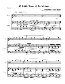O Little Town of Bethlehem: para flauta e piano by Lewis Henry Redner