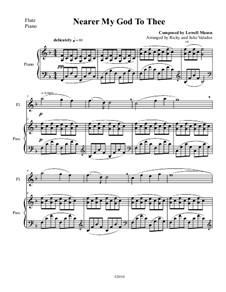 Nearer, My God, To Thee: para flauta e piano by Lowell Mason