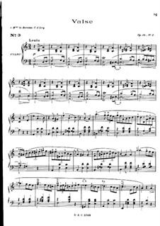 Waltzes, Op.34: No.2 em A menor by Frédéric Chopin