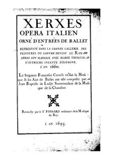 Xerse: partitura completa by Pietro Francesco Cavalli