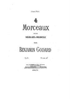 Four Pieces for String Trio, Op.5: Partes by Benjamin Godard
