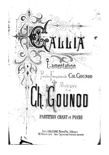 Gallia: Partitura Piano-vocal by Charles Gounod