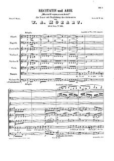 Misero! O sogno, o son desto, K.431: Partitura completa by Wolfgang Amadeus Mozart