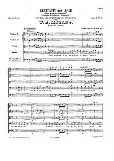 Così dunque tradisci, K.432: Così dunque tradisci by Wolfgang Amadeus Mozart