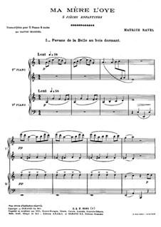 Ma mère l'oye (Mother Goose). Suite, M.60: dois pianos de quatro mãos by Maurice Ravel