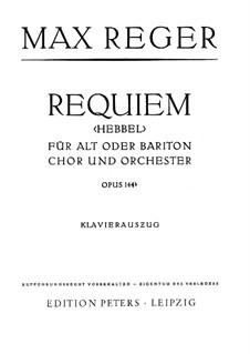 Requiem, Op.144b: Partitura Piano-vocal by Max Reger