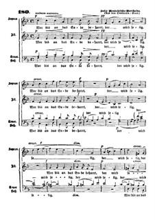 Elijah, Op.70: Choir 'Wer bis an das Ende beharrt' by Felix Mendelssohn-Bartholdy