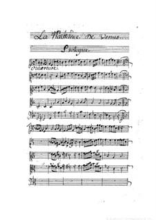 La naissance de Venus: partitura completa by Pascal Collasse
