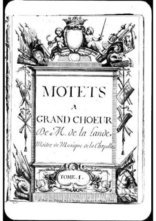 Motets (Collections): Volume I by Michel Richard de Lalande