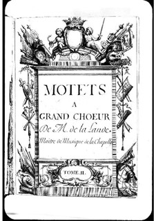 Motets (Collections): Volume II by Michel Richard de Lalande
