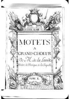Motets (Collections): Volume X by Michel Richard de Lalande