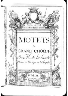 Motets (Collections): Volume XI by Michel Richard de Lalande