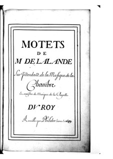 Grand Motets (Collections): Volume I by Michel Richard de Lalande