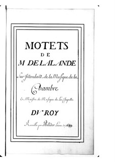 Grand Motets (Collections): Volume IX by Michel Richard de Lalande
