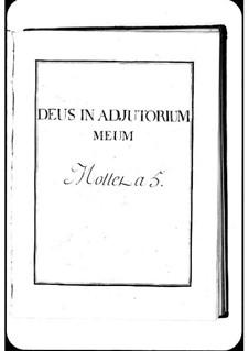 Deus in adjutorium meum: Deus in adjutorium meum by Michel Richard de Lalande