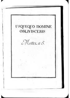 Usquequo Domine: Usquequo Domine by Michel Richard de Lalande