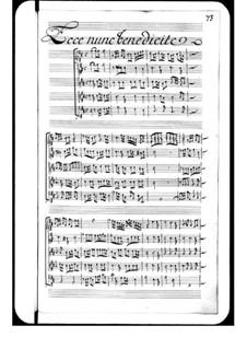 Ecce nunc benedicte: Ecce nunc benedicte by Michel Richard de Lalande