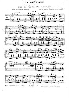 La quêteuse. Fantasia on Romance by L. Puget: La quêteuse. Fantasia on Romance by L. Puget by Alphonse Leduc