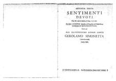 Sentimenti devoti espressi con la musica di due, e tre voci, Op.6: Complete set. Seconda parte by Giovanni Legrenzi