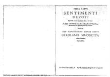 Sentimenti devoti espressi con la musica di due, e tre voci, Op.6: Complete set. Terza parte by Giovanni Legrenzi