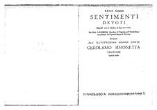 Sentimenti devoti espressi con la musica di due, e tre voci, Op.6: Complete set. Basso continuo by Giovanni Legrenzi