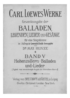 Complete Collection of Ballads, Legends and Songs: Volume V by Carl Loewe