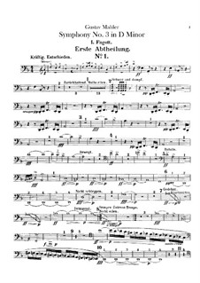 Symphony No.3 in D Minor: parte fagotes by Gustav Mahler