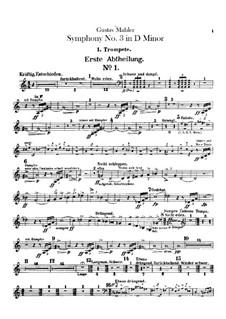 Symphony No.3 in D Minor: parte trompetas by Gustav Mahler