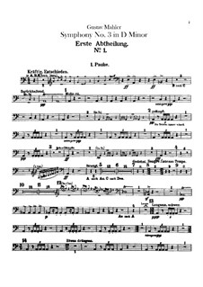 Symphony No.3 in D Minor: Parte percussão by Gustav Mahler