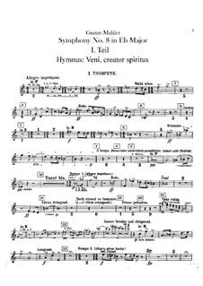 Symphony No.8 in E Flat Major: parte trompetas by Gustav Mahler