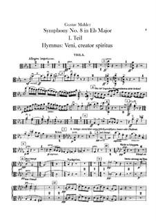 Symphony No.8 in E Flat Major: parte violas by Gustav Mahler