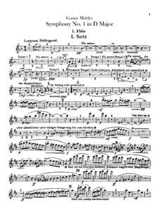 Symphony No.1 in D Major 'Titan': parte de flautas by Gustav Mahler