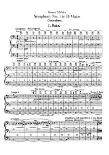 Symphony No.1 in D Major 'Titan': Parte contrabaixo by Gustav Mahler