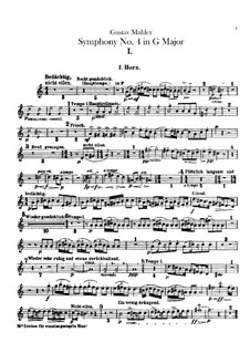 Symphony No.4 in G Major: parte trompa by Gustav Mahler
