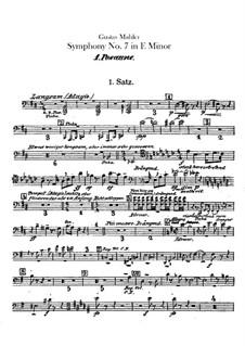 Symphony No.7 in E Minor: parte de trombones e tubas by Gustav Mahler