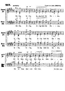 Selig sind die Toten: Singpartitur by Ferdinand Möhring