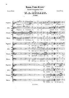 V'amo di core, K.348: V'amo di core by Wolfgang Amadeus Mozart
