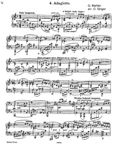Symphony No.5 in C Sharp Minor: Adagietto, for piano by Gustav Mahler