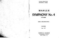 Symphony No.4 in G Major: partitura completa by Gustav Mahler