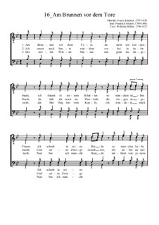 Am Brunnen vor dem Tore: para coral masculino by Franz Schubert