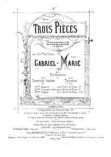 Tzigane for Cello (or Violin) and Piano: partitura by Gabriel Prosper Marie
