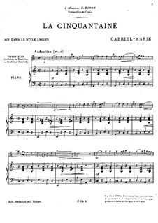 La cinquantaine (The Golden Wedding): partitura by Gabriel Prosper Marie