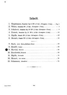 Gavotte: For violin and piano (in G Major) by Giovanni Battista Martini