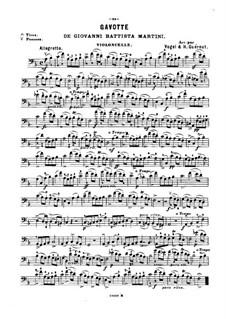 Gavotte: para violoncelo e piano - parte violoncelo by Giovanni Battista Martini