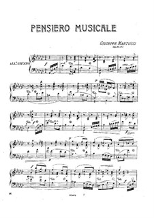 Three Pieces for Piano, Op.33: No.1 Pensiero musicale by Giuseppe Martucci