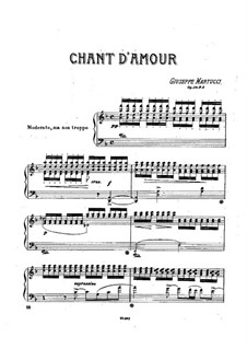 Six Pieces for Piano, Op.38: No.3 Chant d'amour by Giuseppe Martucci