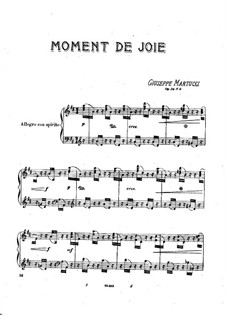 Six Pieces for Piano, Op.38: No.6 Moment de joie by Giuseppe Martucci