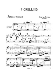 Seven Pieces for Piano, Op.43: No.5 Fiorellino by Giuseppe Martucci