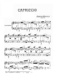 Six Piece for Piano, Op.44: No.1 Cappriccio by Giuseppe Martucci